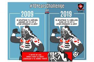 dibujo del luchador L.A. Park en su reto #10yearschallenge por kcidis version sin censura