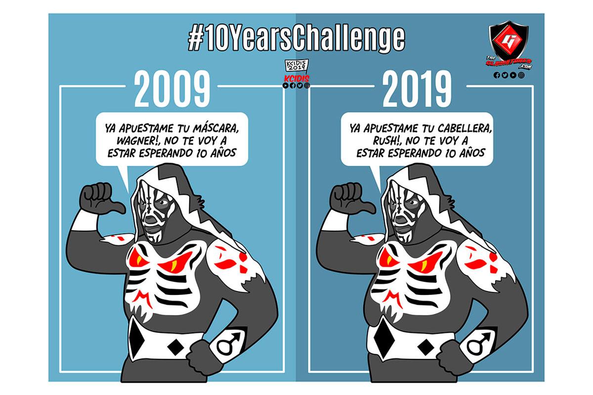 dibujo del luchador L.A. Park en su reto #10yearschallenge por kcidis