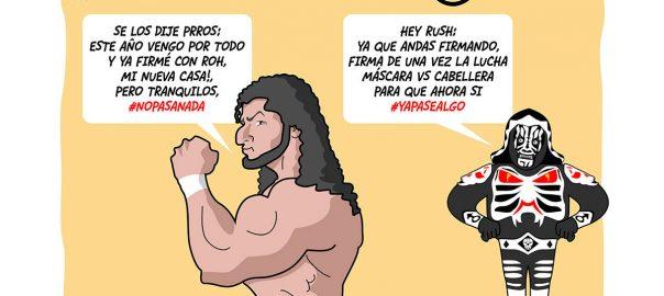 dibujo de lucha libre: los luchadores rush y l.a. park por kcidis