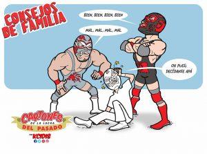 caricatura lucha libre, dinastia wagner, silver king, dr. wagner jr. por kcidis