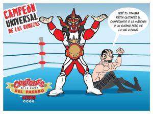 caricatura lucha libre jushin thunder liger campeon universal cmll, kcidis