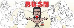 dibujos del luchador Rush, lucha libre por kcidis